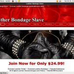Leather Bondage Slave Free Porn