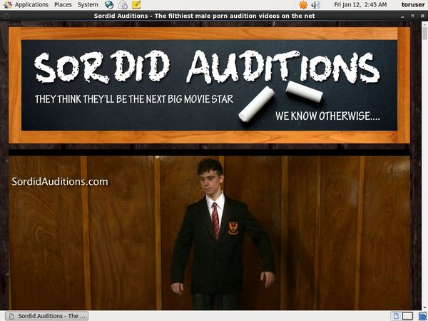 Sordid Auditions Free Try